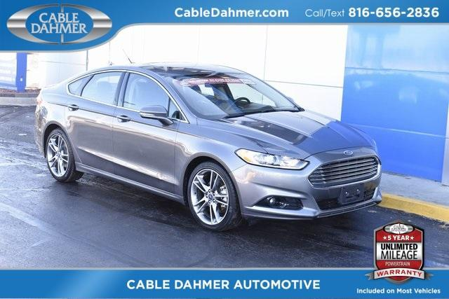 Pre Owned 2013 Ford Fusion Titanium 4d Sedan P4497a Cable Dahmer